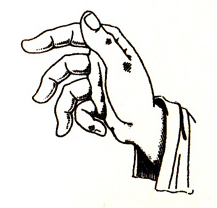 italian gesture language - robbery