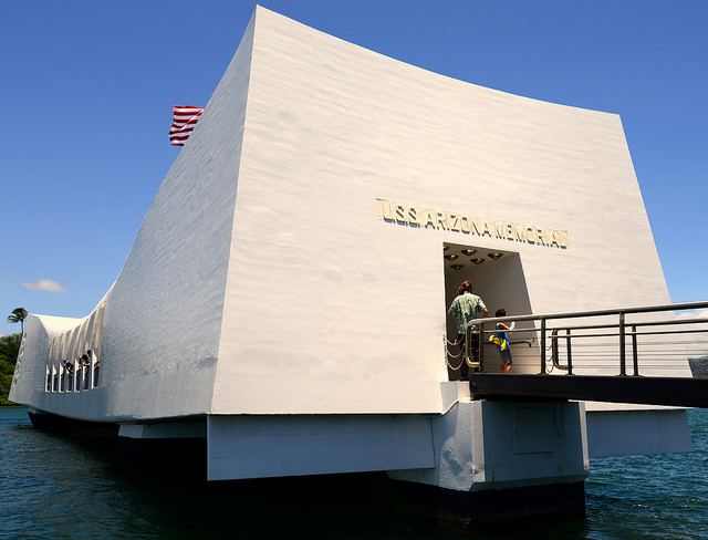 Holidays in Hawaii- USS Arizona memorial.