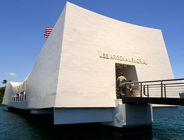 Holidays in Hawaii- USS Arizona memorial.